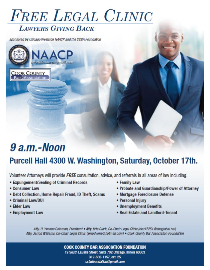 Westside NAACP_CCBA_Free Legal Clinic 10.17.15