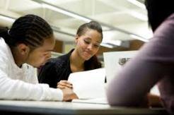 black colege kids studying
